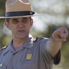 Park Ranger pointing