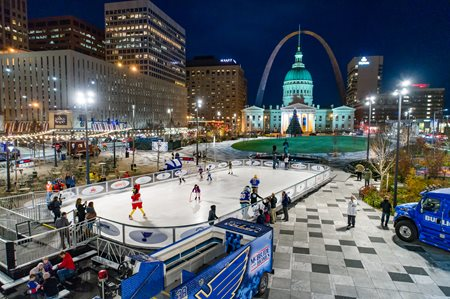 Winterfest Ice Rink at Night