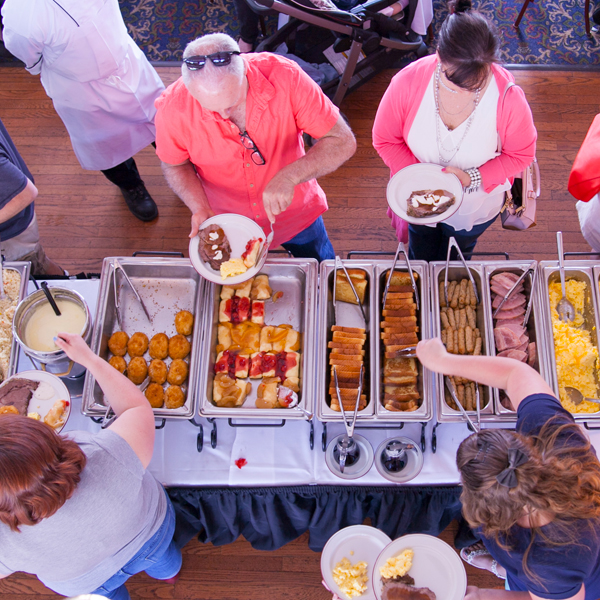 Buffet on the riverboat
