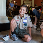 Boy Scout at the Old Courthouse