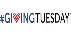 "#GivingTuesday logo - Blue ""Giving"" text with a red heart as the ""V"" next to black ""Tuesday"" text"