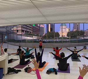 Yoga at the Arch