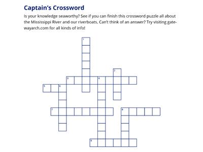 Riverboat Crossword Puzzle