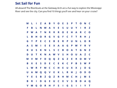 Riverboat Word Search