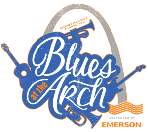 Blue At The Arch 2020 Logo