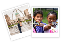 Polaroid photos of visitors