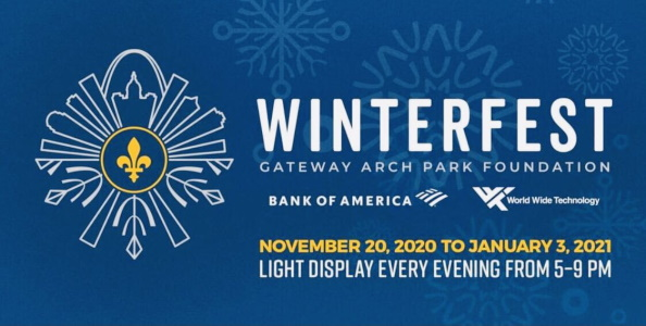 Sparkling Holiday Lights In Downtown Stl Winterfest The Gateway Arch