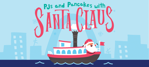 Cartoon Riverboat & Santa Claus